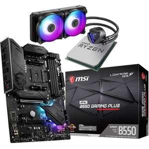 Kit évo AMD Ryzen 7 5800X (tray) + MSI MPG B550 Gaming Plus + Watercooling MSI CoreLiquid 240R