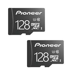 Lot de 2 cartes mémoire microSD Classic Pioneer U1 - 128 Go (Classe 10) + Adaptateur (vendeur tiers)