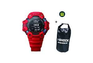Montre GPS Casio G-SQUAD HR GBD-H1000-4ER (rouge) + sac étanche G-Shock offert