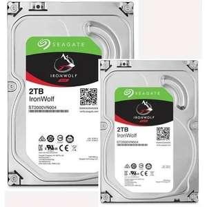 """Lot de 2 disques durs internes 3.5"""" CMR Seagate IronWolf ST2000VNA04 pour NAS - 2 x 2To"""