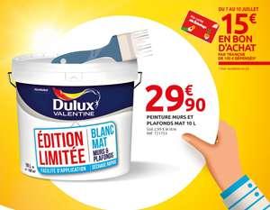 Pot de Peinture murs & plafonds Dulux Valentine - 10L, Blanc Mat