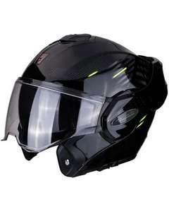 Casque Moto Modulable Scorpion Exo Tech Pulse - Noir/Jaune ou Noir/Rouge (Tailles S, M ou L)