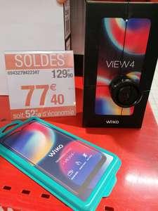 """Smartphone 6.52"""" Wiko View 4 - 3 Go de RAM, 64 Go, Or ou Vert + Verre trempé - Carrefour Liévin (62)"""