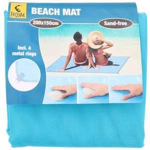 Natte de plage / Serviette anti-sable Froyak - 2 x 1,5m