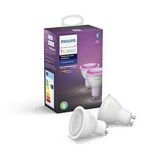 Lot de 2 Ampoules LED Philips Hue White & Color Ambiance GU10