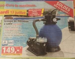 • Filtre à sable pour piscine - 250W, 7500 l/h, jusqu'à 60m³