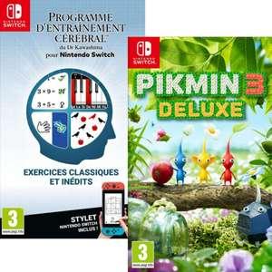 Pikmin 3 Deluxe sur Nintendo Switch (ou Programme d'entrainement cérébral du Dr Kawashima à 18.99€)