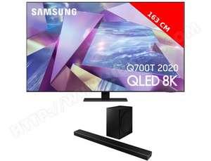 """TV 65"""" Samsung QE65Q700T (8K UHD, QLED, Smart TV) + barre de son Samsung HW-Q60T (via ODR 1000€)"""