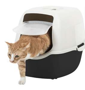 Bac à chat avec porte battante