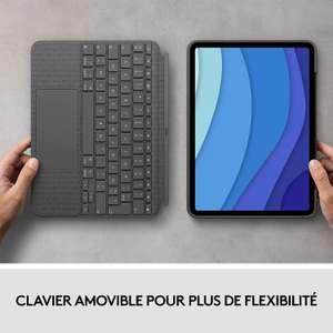 """Etui Clavier Clavier Rétroéclairé Détachable Logitech Combo Touch pour iPad Pro 11"""" (1re, 2e, 3e gén - 2018, 2020, 2021)"""