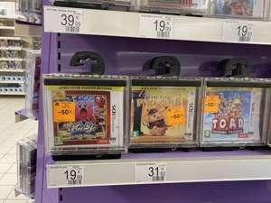 Sélection de jeux de 3DS en promotion - Auchan Neuilly Sur Marne (93)