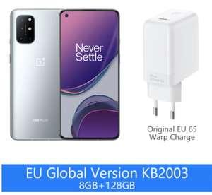 "Smartphone 6.55"" OnePlus 8T (5G) - Full HD+ 120 Hz, SnapDragon 865, 8 Go de RAM, 128 Go (Entrepôt France)"