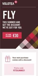30€ de réduction pour toute réservation d'un vol (max. 15€/personne)