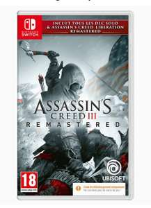 Jeu Assassin's Creed 3 + Assassin's Creed Liberation Remastered sur Nintendo Switch (Code in a Box)