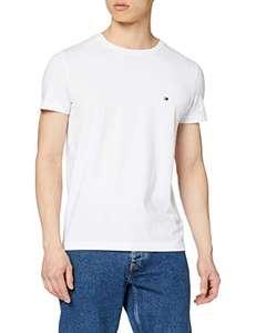 Tee-shirt Tommy Hilfiger Core Stretch Slim Cneck Tee - blanc ou gris (du S au XXXL)