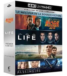 Coffret Blu-ray 4K UHD Science Fiction - Blade Runner 2049 + Life + Passengers + Premier contact