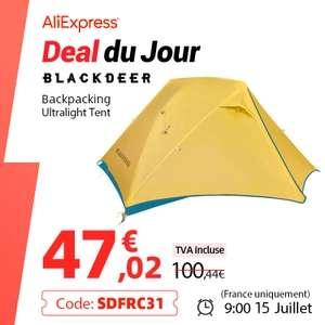 Tente ultralégère Blackdeer - 2 personnes, Nylon 20D, tissu enduit de Silicone, imperméable, 1.47 kg