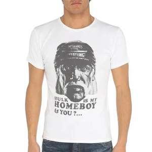 "Tee shirt Japan Rags Hulk Hogan ""Hulk is my Homeboy & you?..."" - Tailles L & XL"