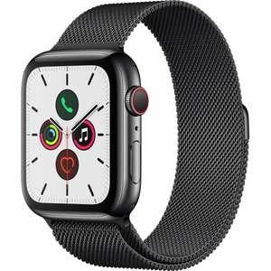 Montre connectée Apple Watch Series 5 44mm - Cellular, Acier avec bracelet Milanais