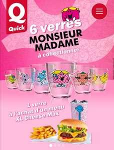 Un verre Monsieur Madame offert + jeu 100% gagnants pour l'achat d'un menu XL Cheese Max