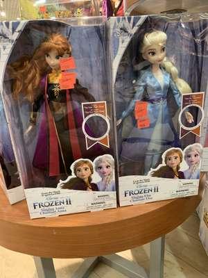 Poupée chantante La Reine des Neiges 2 (Elsa ou Anna) - Disney Store Strasbourg (67)