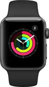 Montre connectée Apple Watch Series 3 GPS - 38 mm, aluminium gris sidéral, bracelet Sport, noir