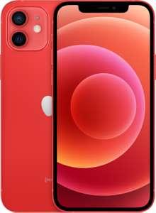 """Smarpthone 6.1"""" Apple iPhone 12 - full HD+ Retina, A14, 4 Go de RAM, 64 Go, rouge (+ 21.6€ en Rakuten Points)"""