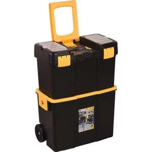 Chariot à outils/ Trolley Allit - 26.5 x 46.5 x 62 cm, 2 caisses, Plateau porte-outils, 2 rangements compartimentés