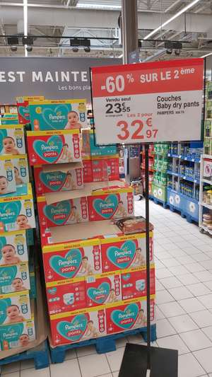 2 Méga Pack de couches Pampers Baby-Dry ou Baby-Dry Pans - Aix les Miles (13)