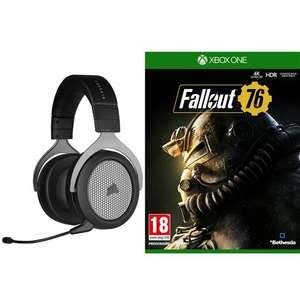 Pack Casque gaming sans fil Corsair HS75 XB + Jeu Fallout 76 sur Xbox One
