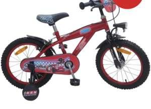 """Vélo 16"""" Disney Cars avec 2 Freins + Stabilisateurs"""