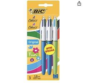 Lot de 3 stylos BIC 4 couleurs