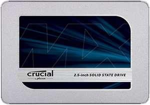 "SSD interne 2.5"" Crucial MX500 CT2000MX500SSD1 - 2 To, DRAM, TLC"