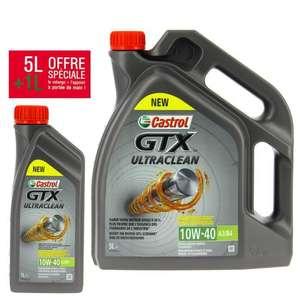6L d'huile de moteur Castrol GTX 10W-40