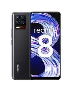 "Smartphone 6,4"" Realme 8 - Full HD+ Super AMOLED, Helio G95, RAM 4 Go, 64 Go, Caméra Al 64MP, 5000mAh - Cyber Black"