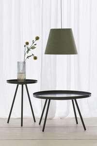 Table basse d'appoint H&M - diamètre 53 cm, coloris vert