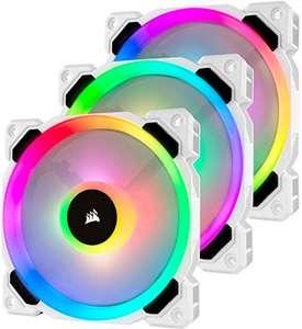 Pack de 3 ventilateurs PC Corsair LL120 Dual Light Loop RGB - 12 cm, blanc avec Lightning Node Pro