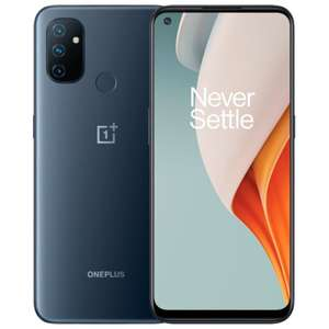"Smartphone 6.52"" OnePlus Nord N100 - HD+ 90 Hz, Snapdragon 460, RAM 4 Go, 64 Go, 5000 mAh, Charge 18W, Gris (Entrepôt France) - TVA incluse"