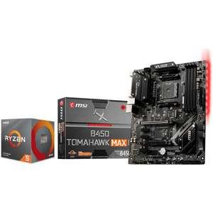 Kit Processeur AMD Ryzen 5 3600 Box + Carte-mère MSI B450 Tomahawk Max II