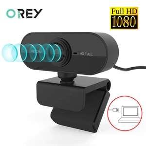 [Nouveaux Clients] Webcam avec microphone Orey - Full HD 1080p, noir