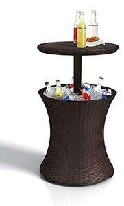 Table de salon de jardin avec compartiment seau à glace Keter Pacific - marron, 50x50.5x41.6 cm