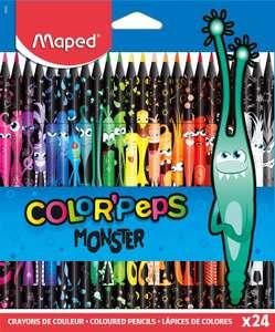 Paquet de 24 crayons de couleur MAPED Color'Peps Monster