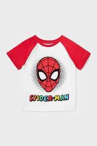Sélection de vêtements pour enfant en promotion - Ex : tee-shirt Spider-Man (en coton bio, du 3 au 10 ans)