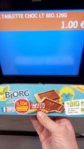 Biscuits Bio tablette au choc les ptits curieux Bjorg - 126g (Valenciennes 59)