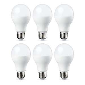 Lot de 6 Ampoules LED Amazon Basics - E27, 9W (équivalent 60W), Blanc Chaud