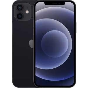 """Smartphone 6.1"""" Apple iPhone 12 - 128 Go, noir (+77.70€ en Rakuten Points)"""