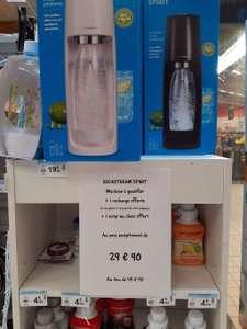 Machine Soda Stream spirit + 2 recharge de gaz + un sirop concentré au choix Carrefour Market Gujan-Mestras (33)