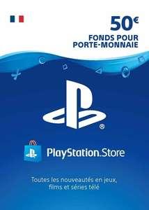 Code PlayStation Network - 50€ (Dématérialisé - FR)