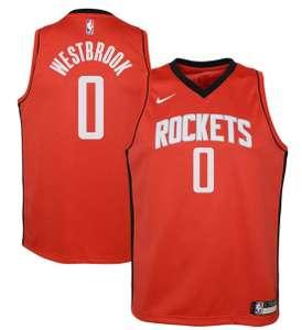 Sélection de Maillots de basketball NBA Enfant - Ex: Russel Westbrook Houston Rockets Nike Icon Edition Swingman (1.40 à 1.70m)