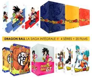 Pack 10 Coffrets DVD Dragon Ball Z + Dragon Ball + Dragon Ball GT + Dragon Ball Super + 20 Films et OAV - Intégrale Collector